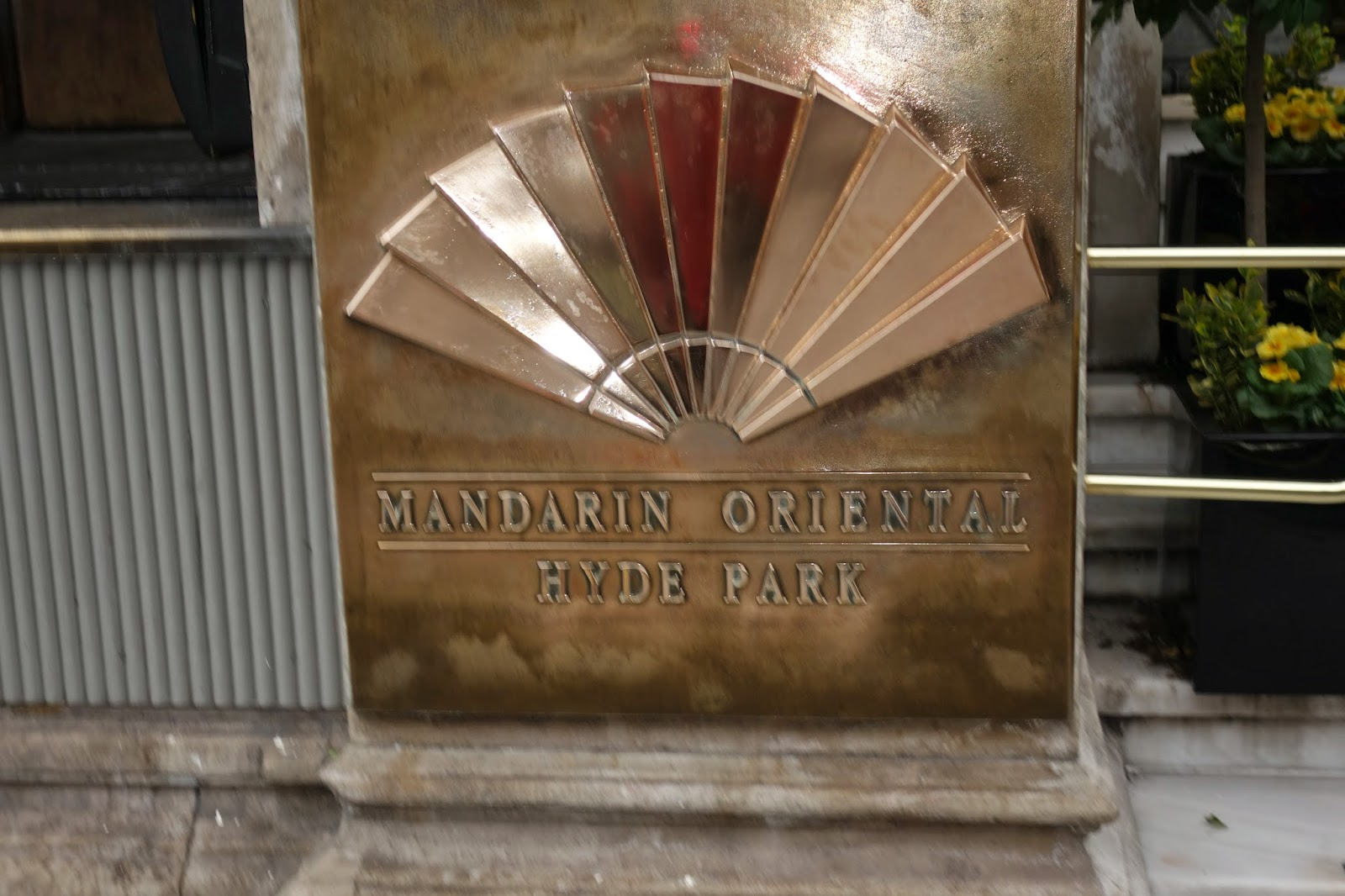 Sign for the Mandarin Oriental