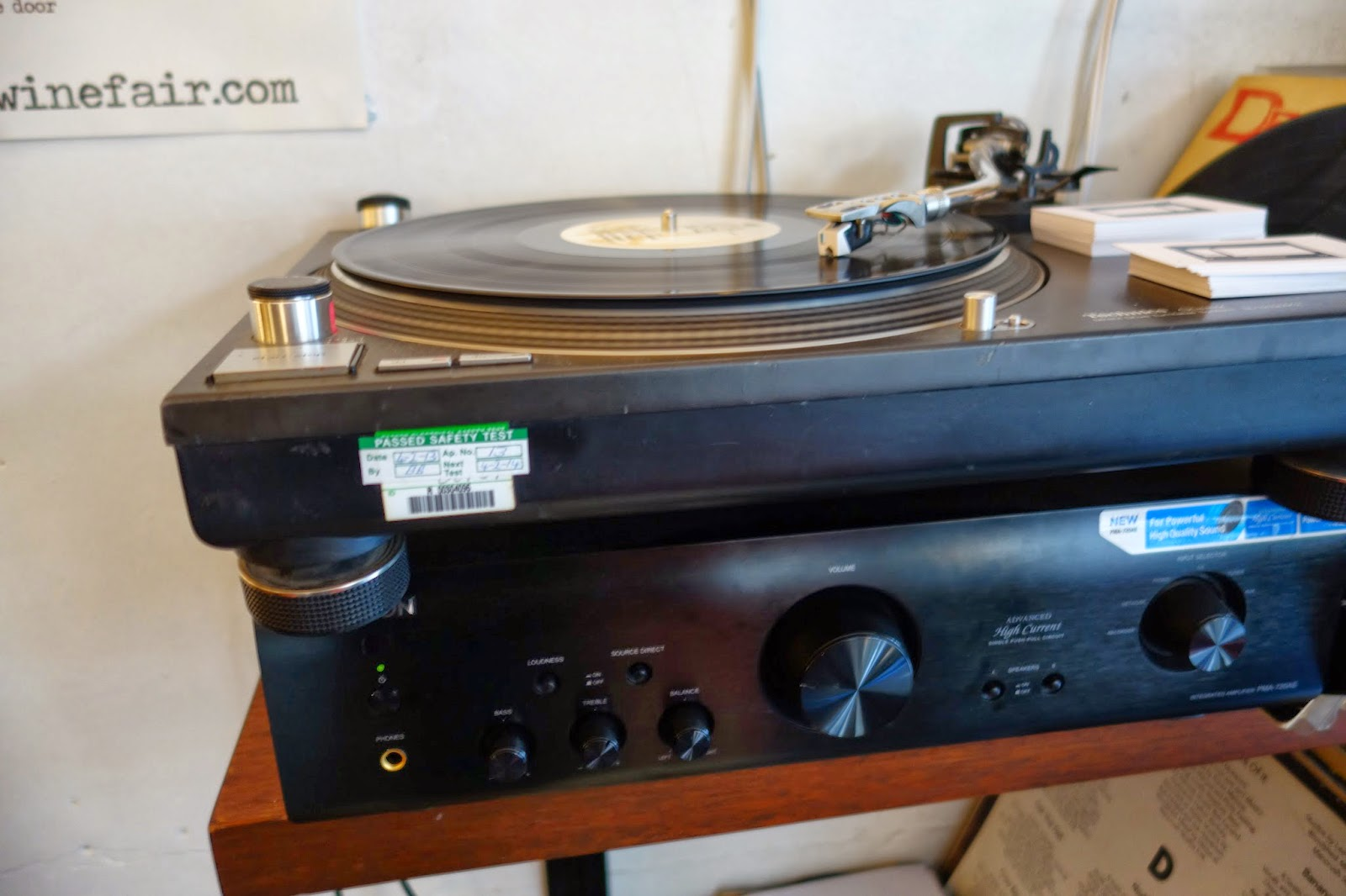 record player at Ducksoup