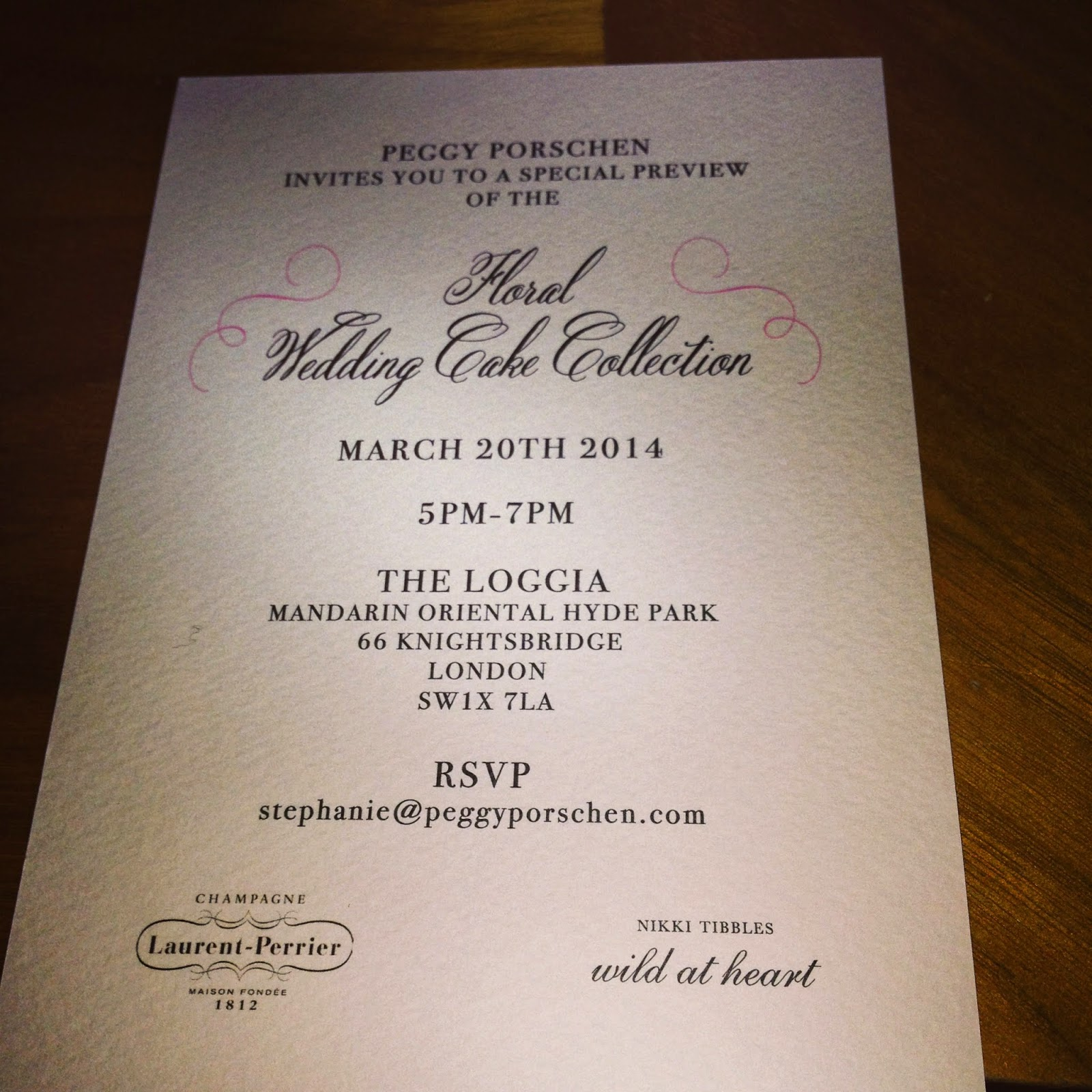 Peggy Porschen Event Invitation