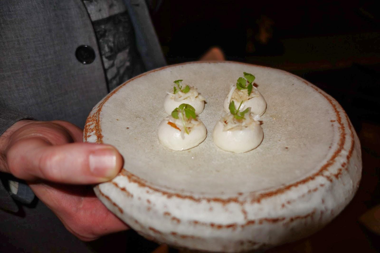 Trout meringues