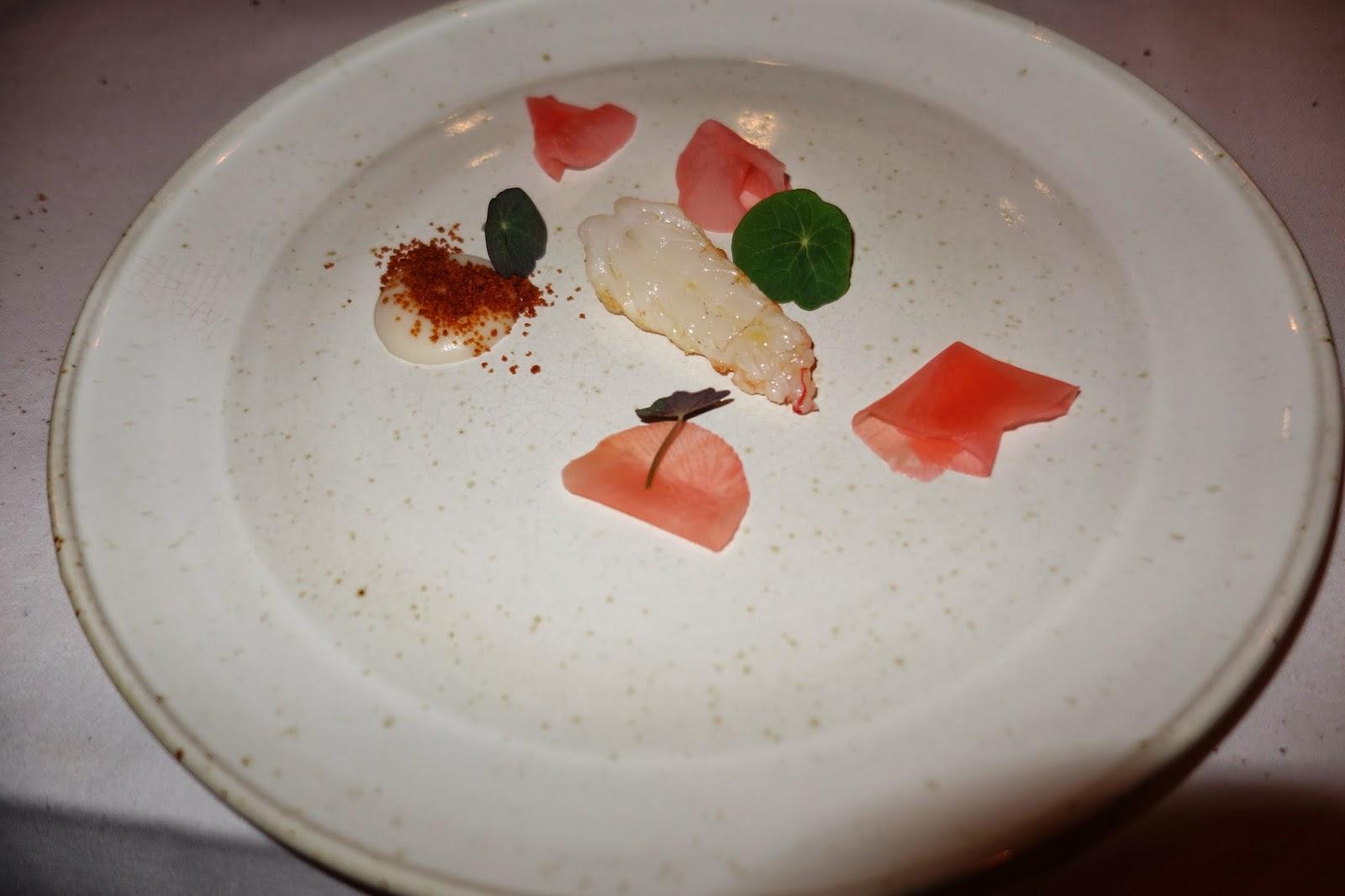 Langoustine with almond milk