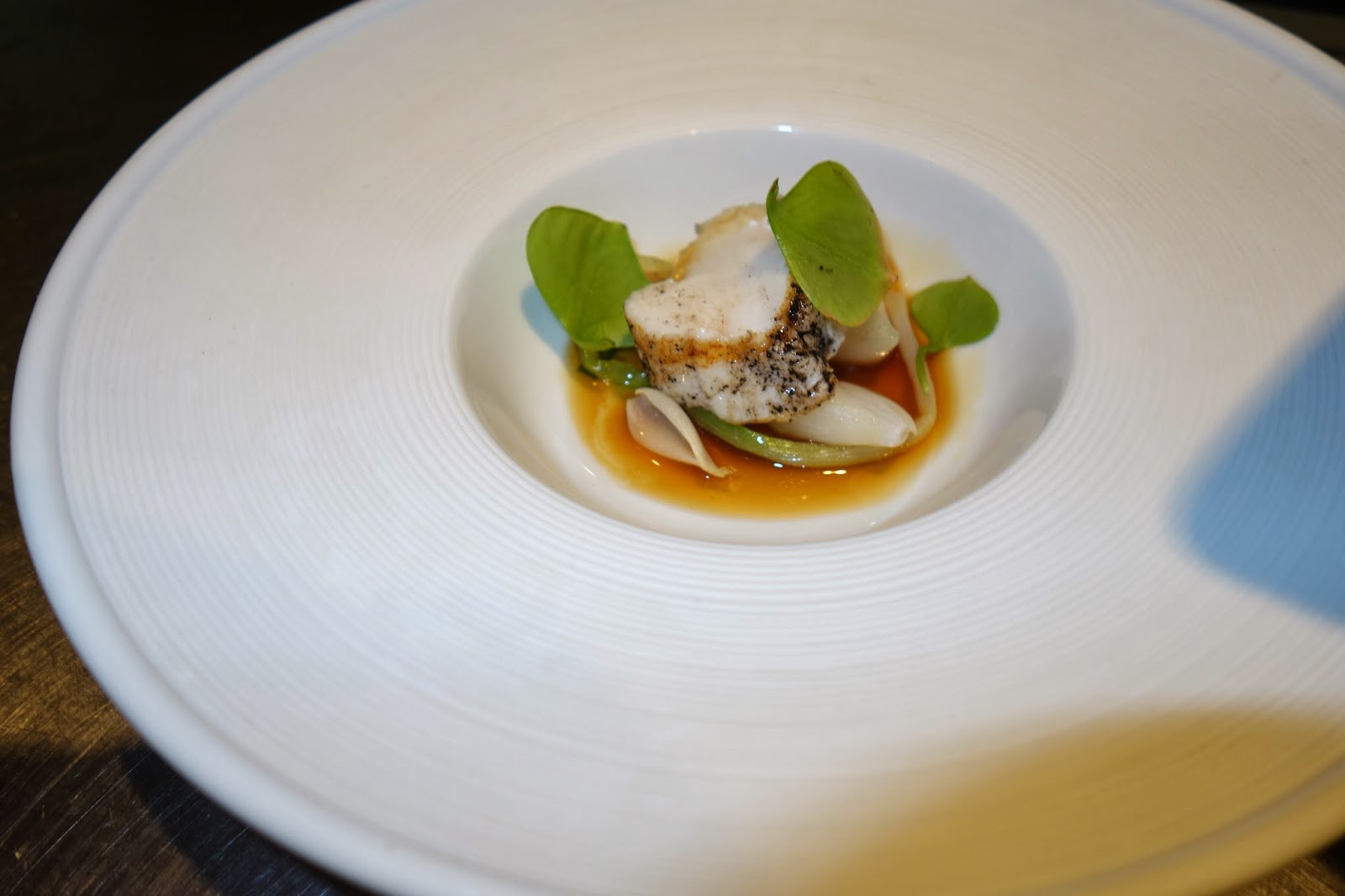 Monkfish with alliums