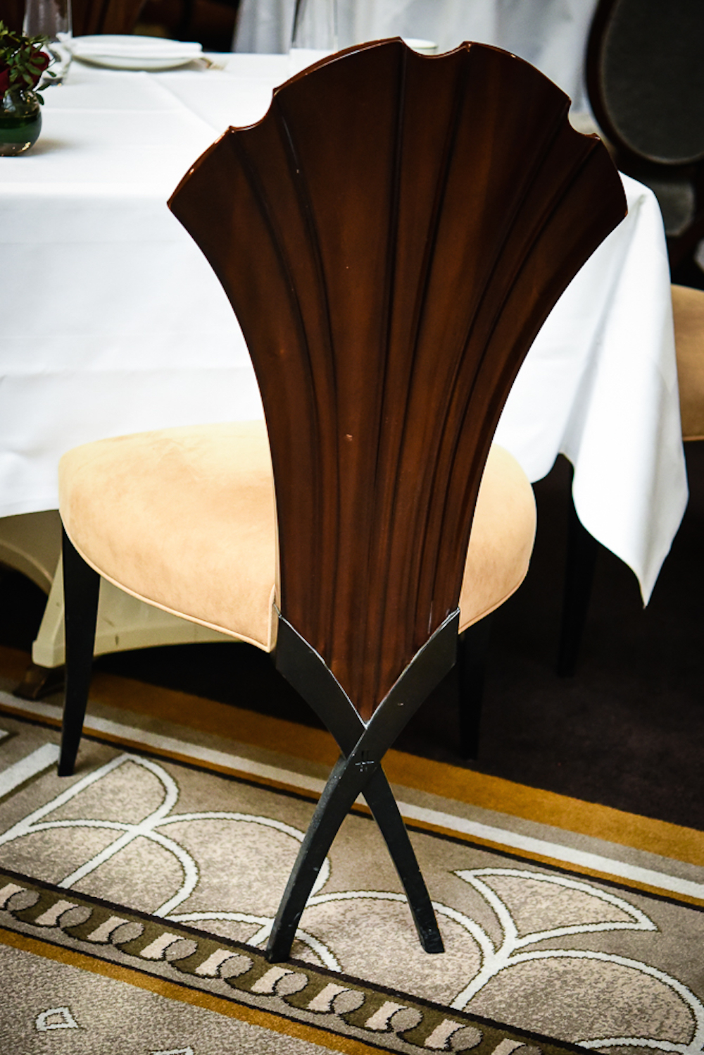 Bespoke chair Georgian Restaurant harrods