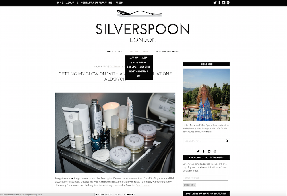 Screen shot silverspoon london