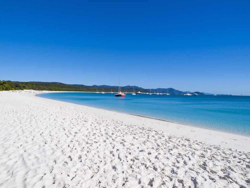 Whitehaven Beach on Whitsunday Island, Northern Queensland, Australia
