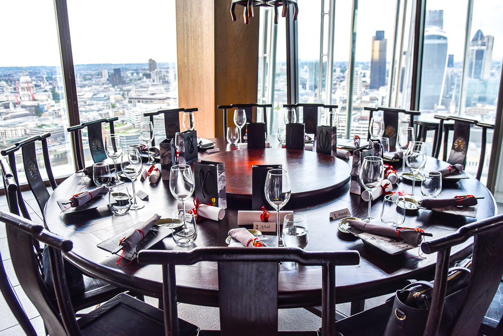 Dim sum in the sky northern chinese dining at hutong at for Restaurants at the shard